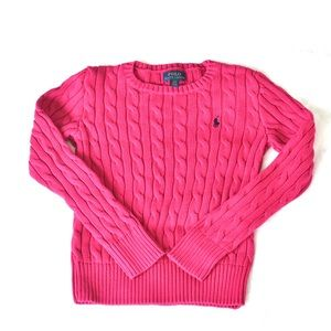 Polo Ralph Lauren Pink Cable sweater SZ 7